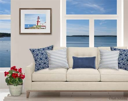 Painting of East Quoddy Light on Campobello Island, New Brunswick by Beth