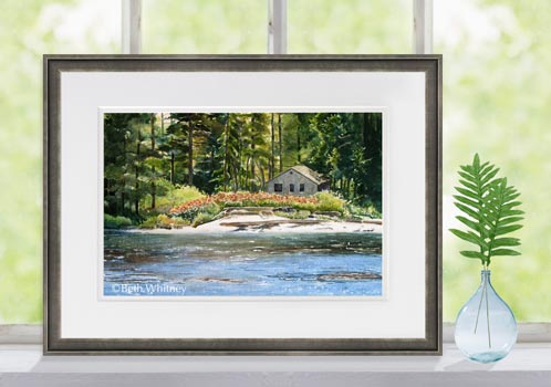 """Sumac in the Sun,"" an original watercolor painting by Beth Whitney from near Boothbay, Maine"