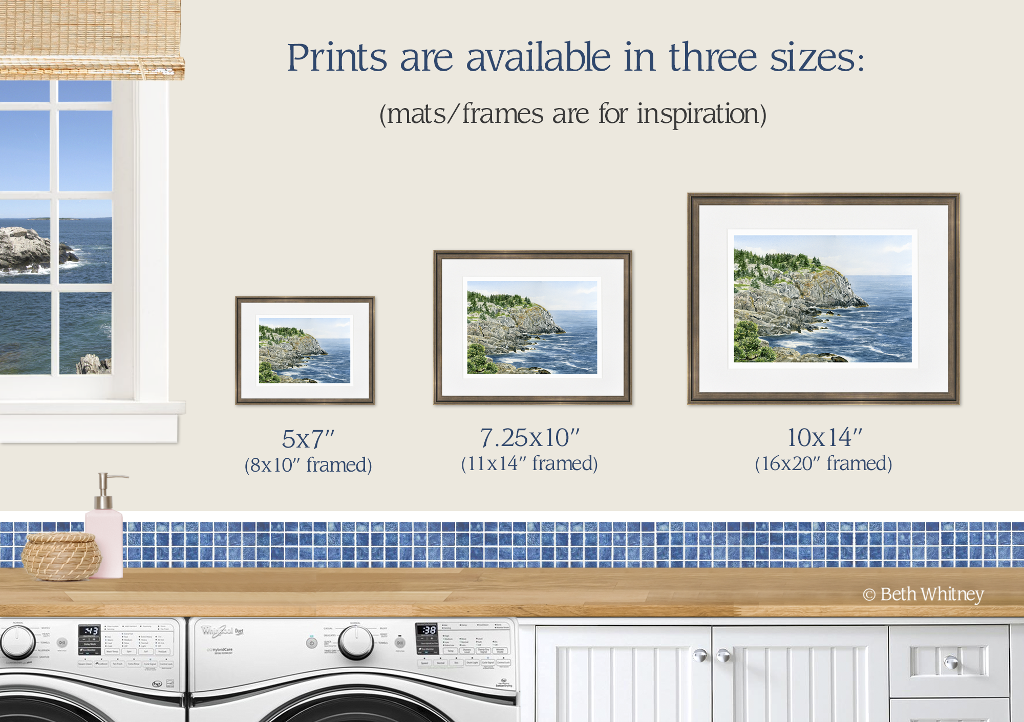 Prints of Whitehead Cliff on Monhegan Island